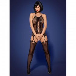 Bodystocking maille noir
